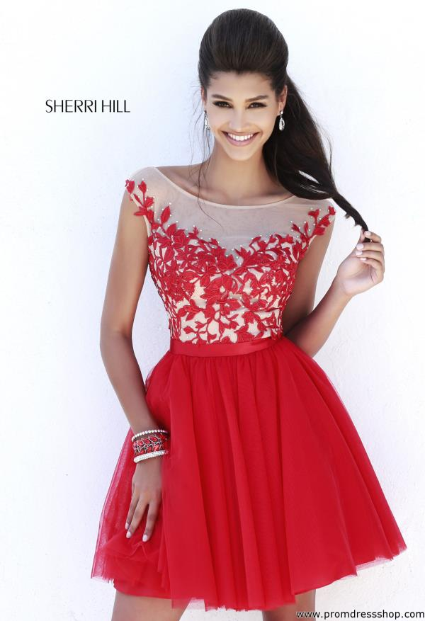 Sherri Hill Sleeved Holiday Dress 11171