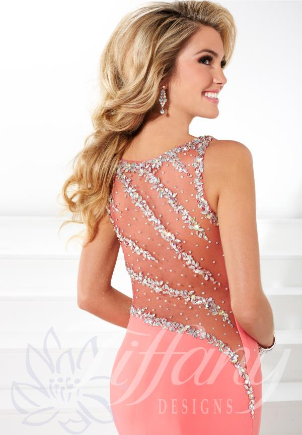 Tiffany Coral Open Back Dress 16084