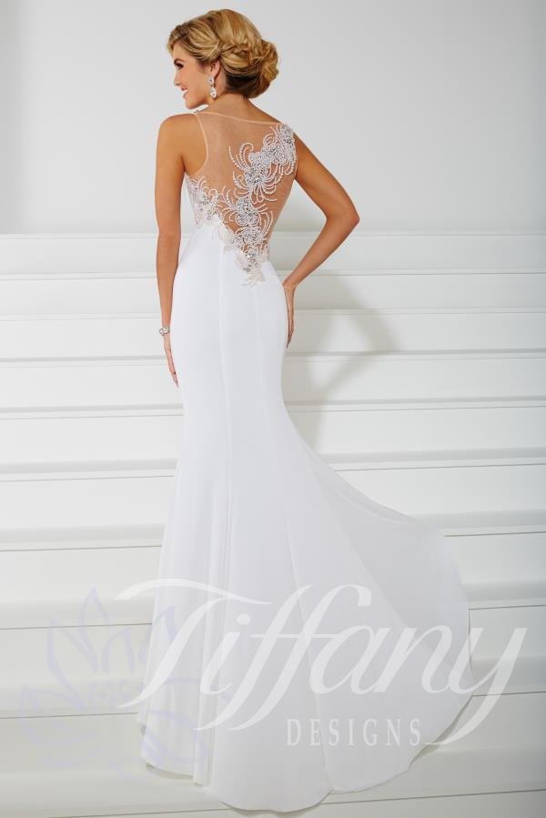 High Beaded Neckline Gown Tiffany Style 16104