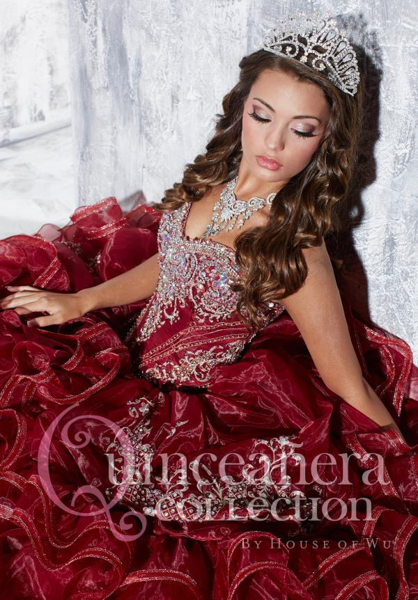 Amazing Beaded Tiffany Quince Dress 26769