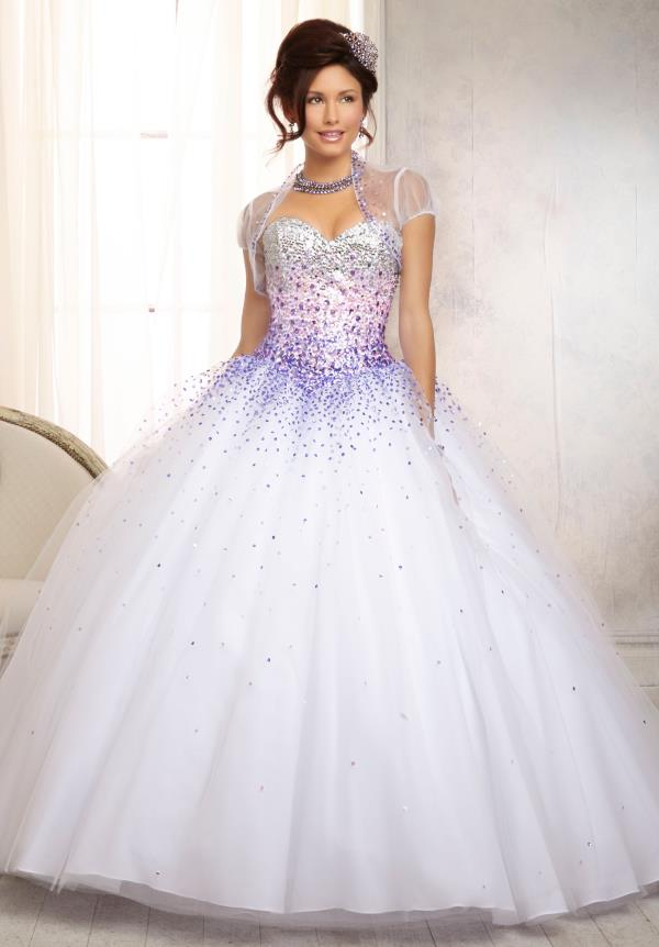 Vizcaya Quinceanera Tulle Skirt Dress 88086