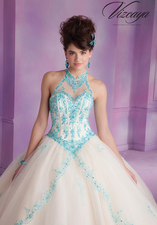 Vizcaya Quinceanera Halter Top Dress 89001