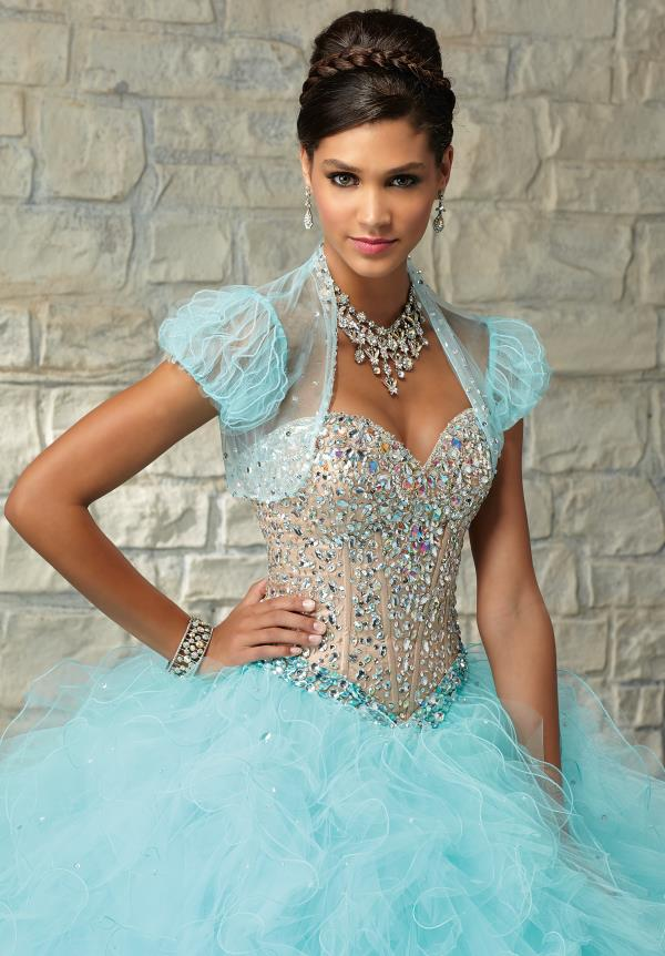 Vizcaya Quinceanera Beaded Corset Dress 89030
