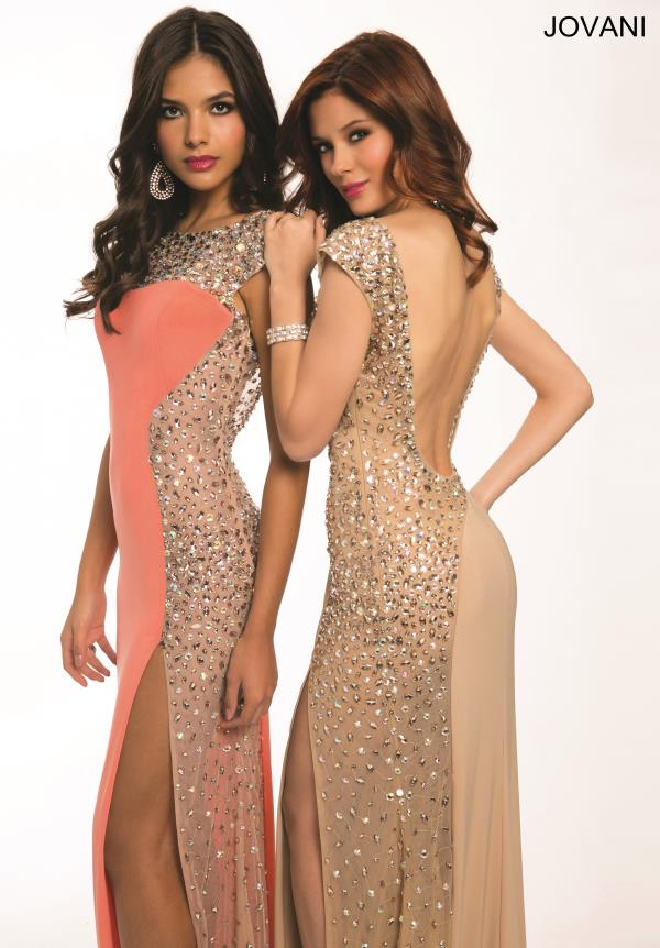 Jovani Beaded Sleeved Dress 88250