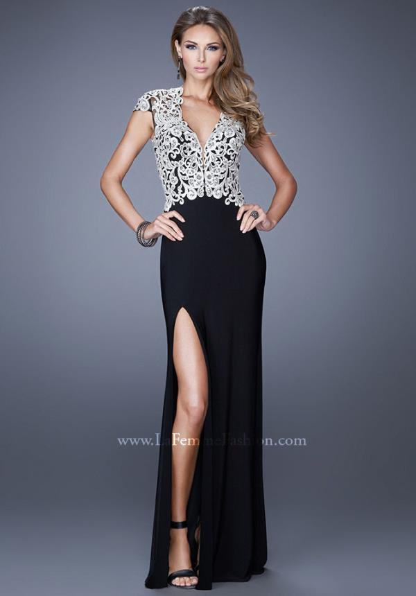 Fitted Long La Femme Dress 20648