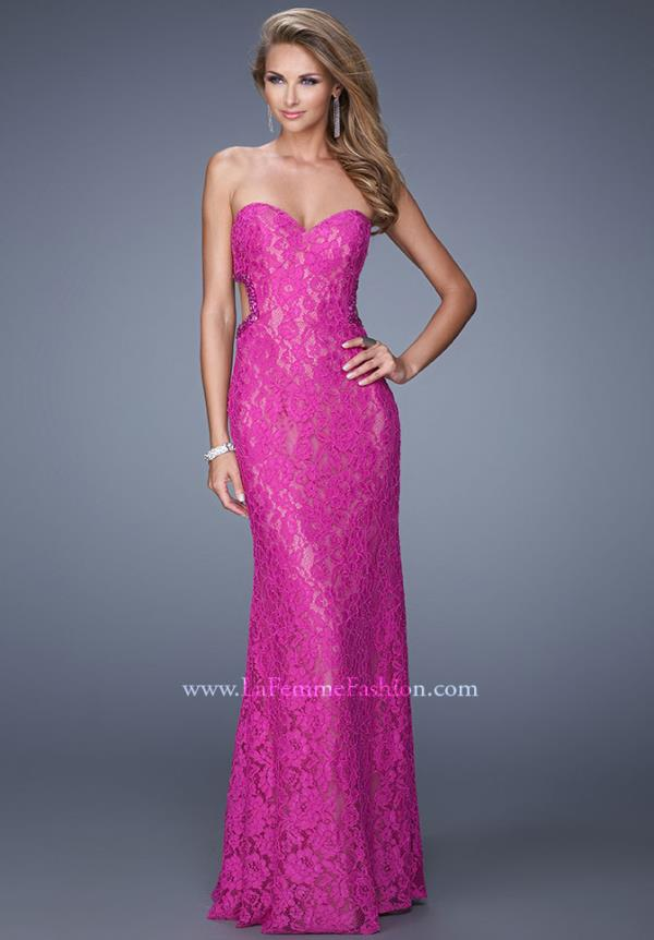 Strapless Lace La Femme Dress 20750