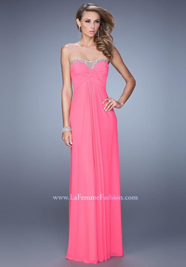 La Femme 21461 Beaded Strap Dress