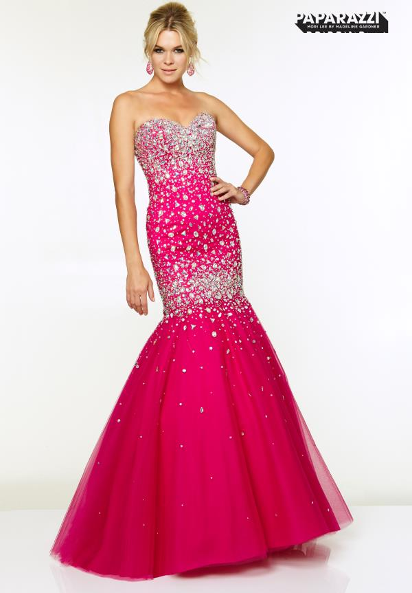 Mori Lee Beaded Silhouette Dress 97040