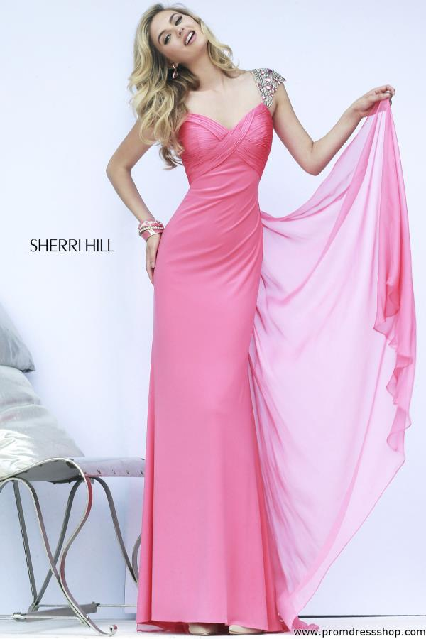 Sherri Hill Sheer Open Back Dress 11172