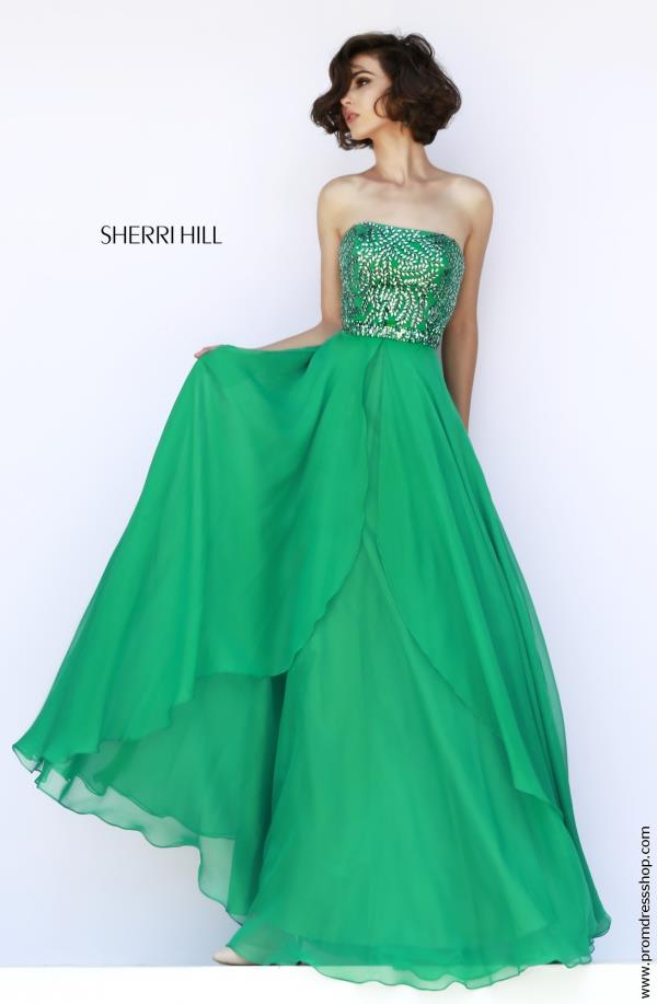 Sherri Hill Marine Ball Beaded Black Dress 1941