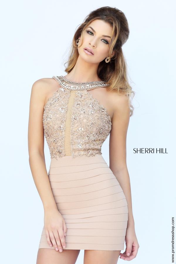 Beaded Sherri Hill Short Dress 32228