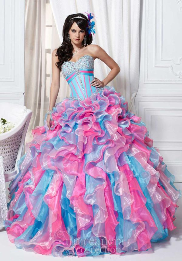 Ruffled Multi Color Tiffany Quinceanera 26706