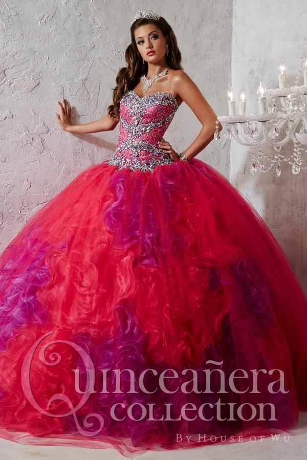 Beautiful Beaded Bodice Tiffany Quince Dress 26789