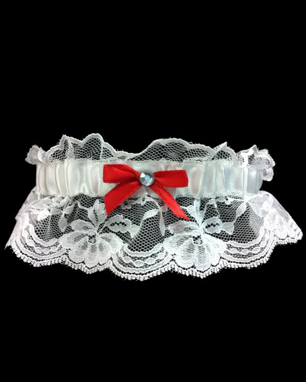 Beautiful Red Lace Prom Garter