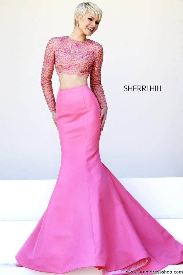 Sherri Hill Long Taffeta Skirt Dress 32009