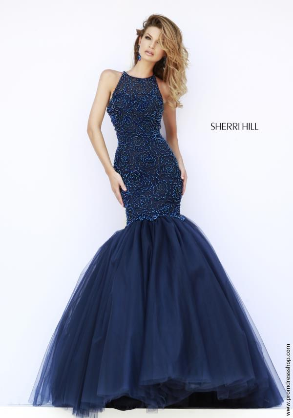 Sherri Hill Mermaid Purple Prom Dresses Cheap