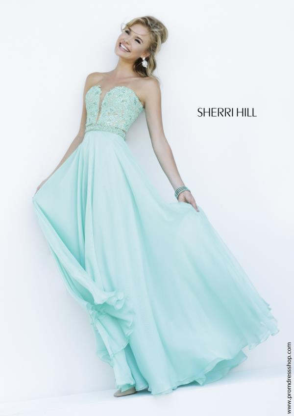 Sherri Hill Applique Bodice Long Dress 32180