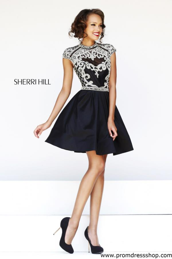 Sherri Hill Sleeved Dress 4300