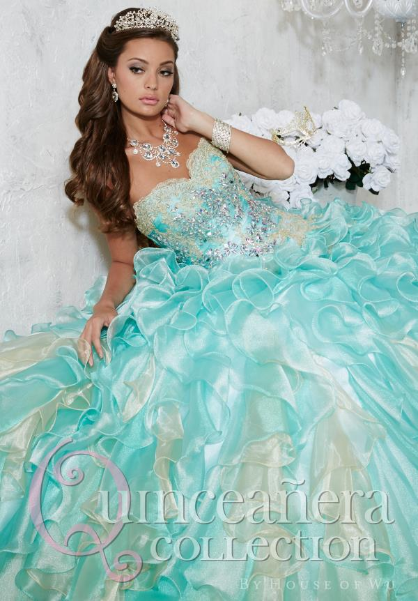 Lace Sweetheart Neckline Tiffany Quince Dress 26782