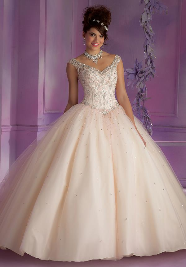 Vizcaya Quinceanera Lace Back Dress 89006