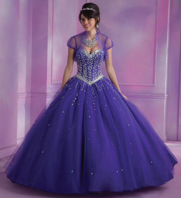 Vizcaya Quinceanera Tulle Skirt Dress 89012