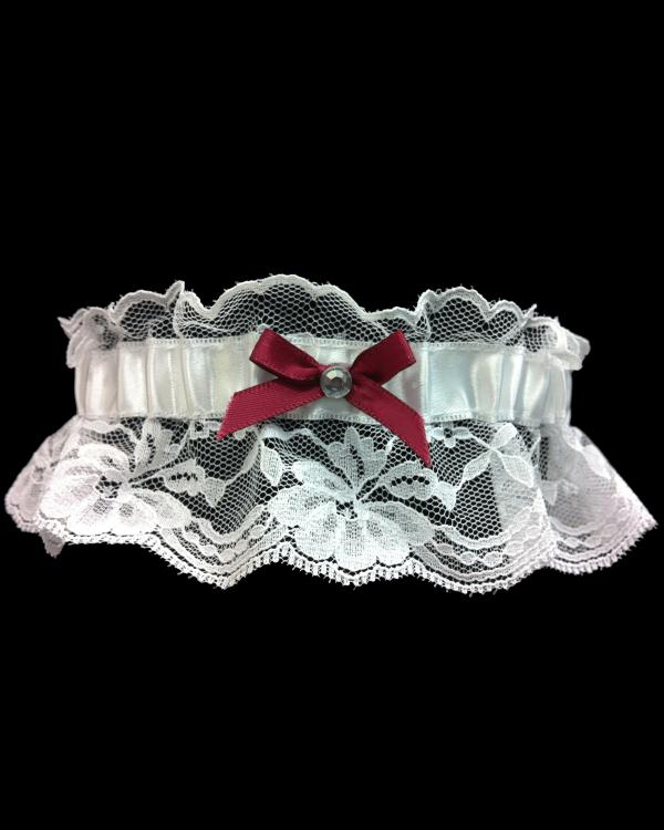 Prom Wine/Burgundy Lace Garter