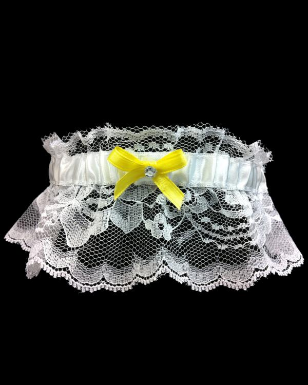 Prom Yellow Lace Stretch Garter