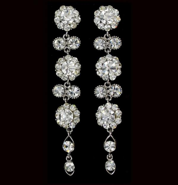 Cascading Silver Long Earrings