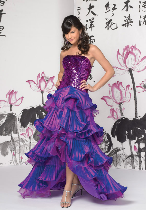 Tiffany A Line Prom Dress 16501