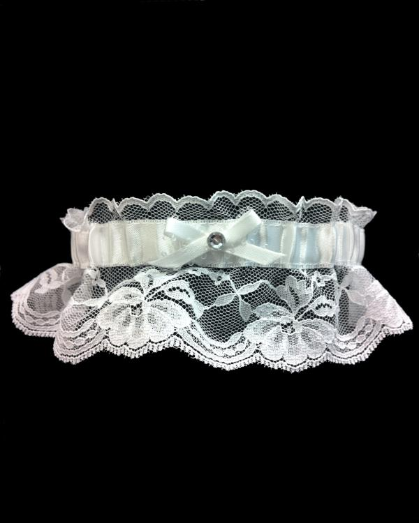 Beautiful Lace White Prom Garter