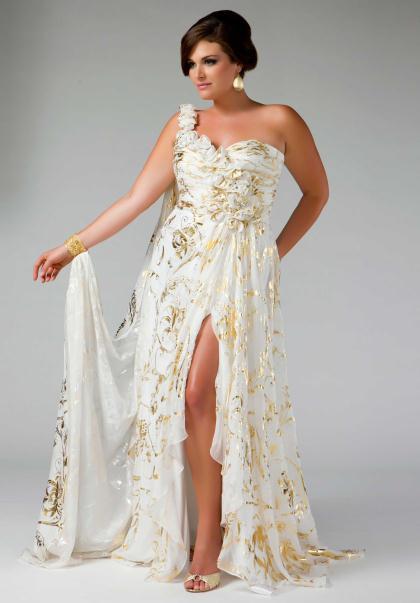 Plus size dresses Gold | @TRENDY STYLE