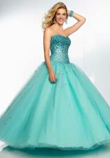 Mori Lee 95068.  Available in Aqua, Bubble, Champagne/Rose