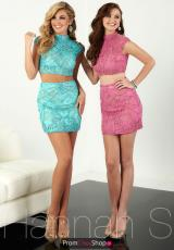 Aqua Blue and Rose Pink