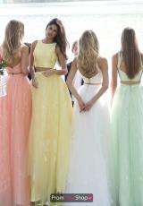 Coral, Yellow, Ivory, Light Green