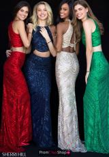 Red, Navy, Silver, Emerald