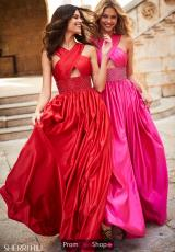 Red and Fuchsia