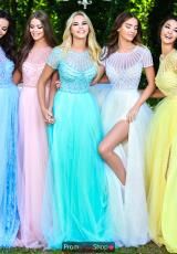 Blue, Salmon, Mint, Ivory, Yellow