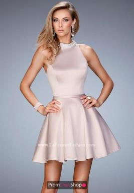 La Femme Short Dress 22212