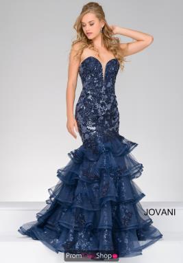 Jovani royal blue strapless dress