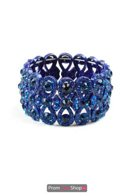 Royal Blue Figure 8 Stretchable Bracelet