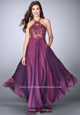 Purple Dresses at Prom Dress Shop.
