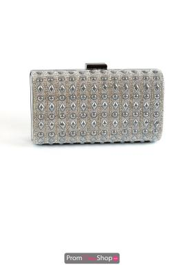 Silver Stud Hardcase Prom Clutch