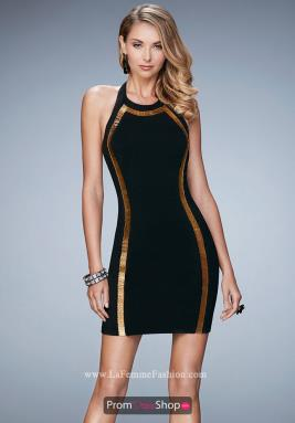 La Femme Short Dress 22209