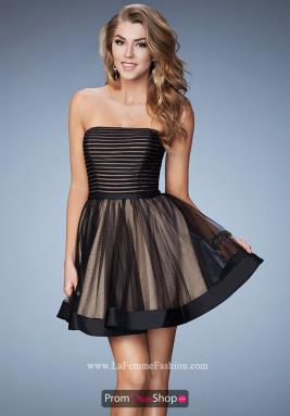 La Femme Short Dress 23354