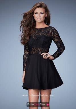 La Femme Short Dress 23501