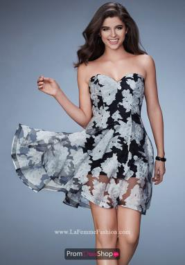 La Femme Short Dress 23509