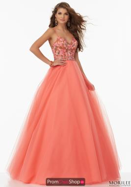Coral Dresses at Prom Dress Shop.