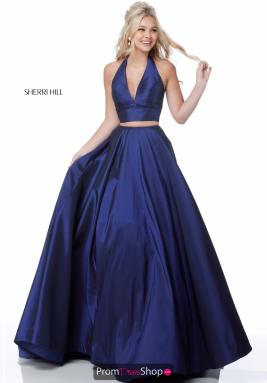 6c0123cc74a Sherri Hill Dress 51923. Emerald  Navy