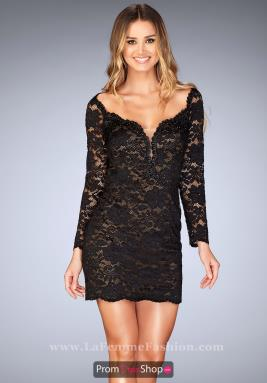 La Femme Short Dress 25038