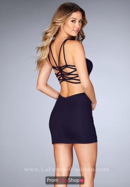 La Femme Short Dress 25058